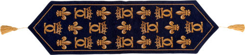 Chenonceau Bleu French Tapestry Table Runner