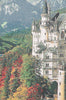 Neuschwanstein Castle Grey Belgian Tapestry Wall Hanging