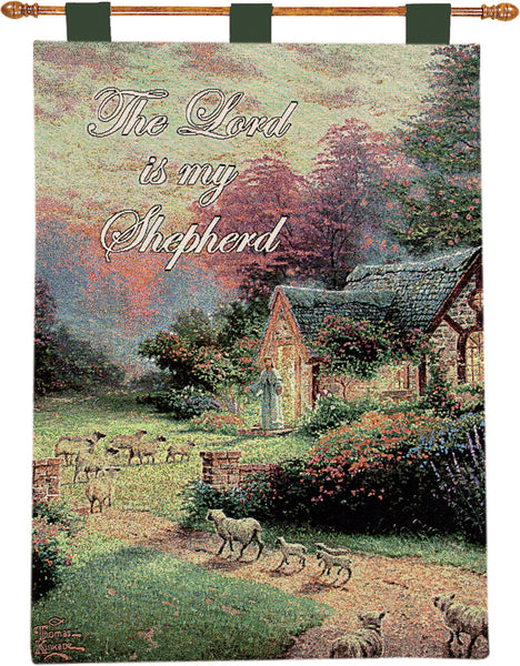 Good Sheperd's Cottage by Kinkade Fine Art Tapestry