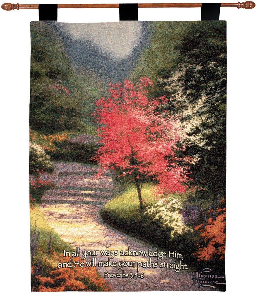 Afternoon Light Dogwood w/Verse by Kinkade Fine Art Tapestry
