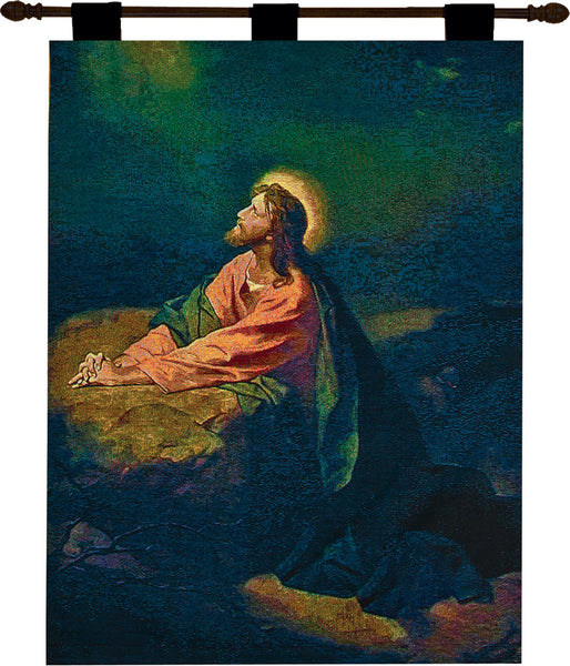 Garden of Gethsemane Fine Art Tapestry