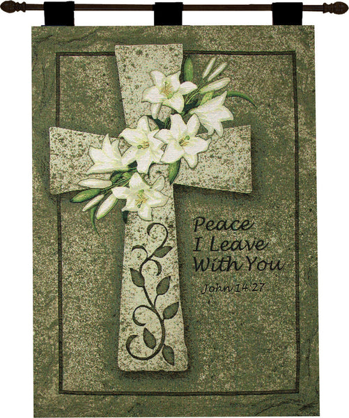 Peace I Leave With You Fine Art Tapestry