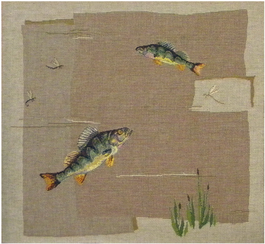Fish French Tapestry Cushion