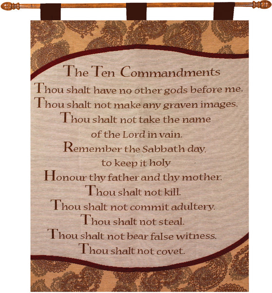 Ten Commandments Fine Art Tapestry