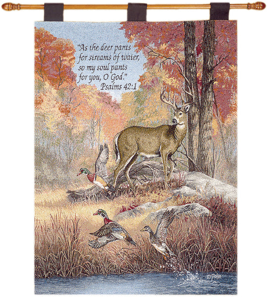 Fur, Feathers, & Fall w/Verse Fine Art Tapestry