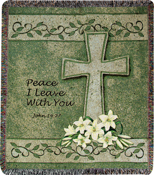 Peace I Leave With You I Tapestry Throw