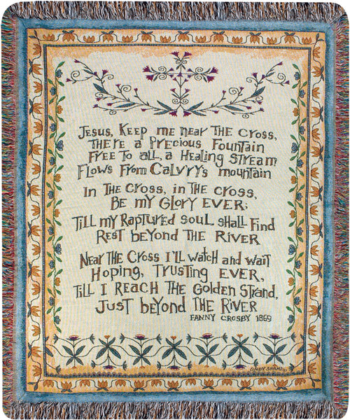 Near the Cross Tapestry Throw