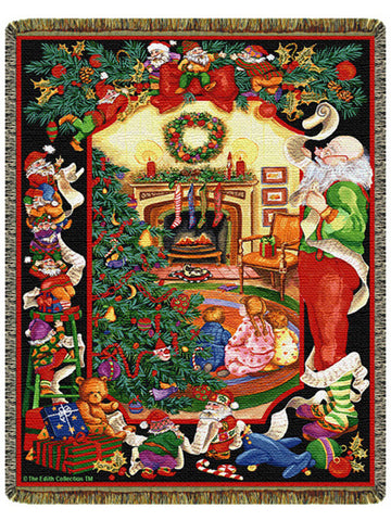 Santa's Helper Tapestry Throw
