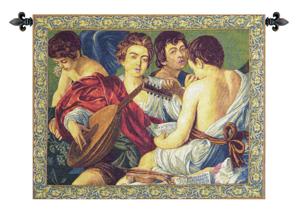 Concerto Caravaggio Italian Tapestry Wallhanging