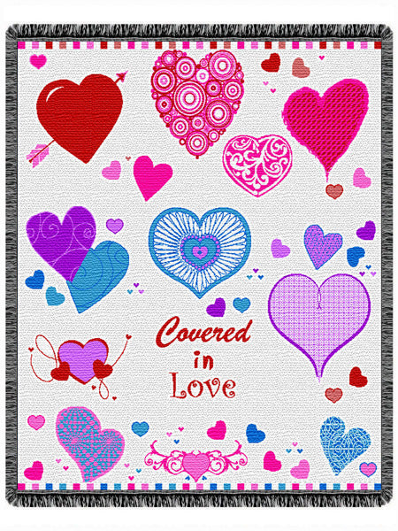Covered in Love Tapestry Throw