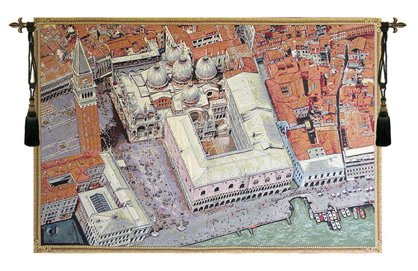 Venice from Above Italian Tapestry Wallhanging