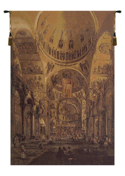 Inside San Marco Italian Tapestry Wallhanging