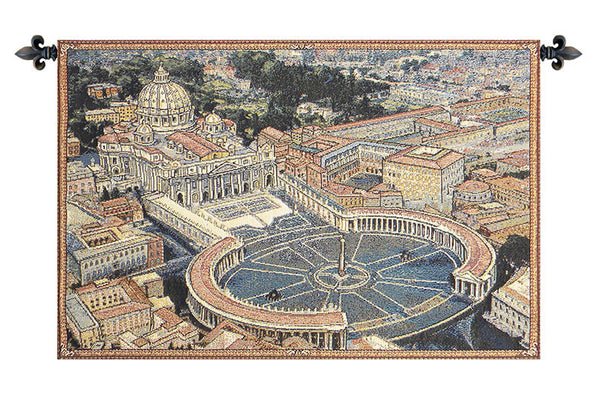 St. Peters Square Italian Tapestry Wallhanging