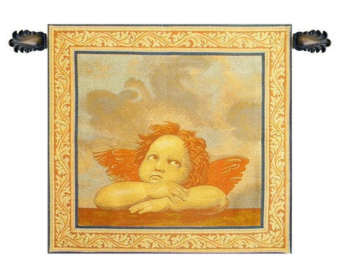 Raphael's Angel Right Panel Italian Tapestry Wallhanging