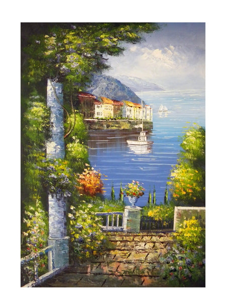 Back Garden Canvas Wall Art