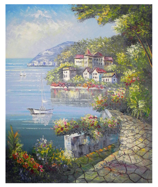 Europe Harbor Canvas Wall Art
