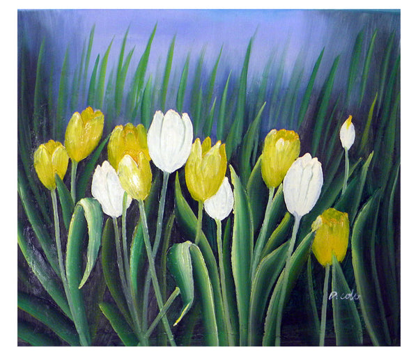 Budding Tulips Canvas Wall Art