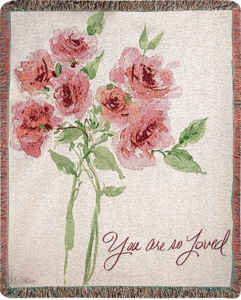 You Are So Loved I Tapestry Throw