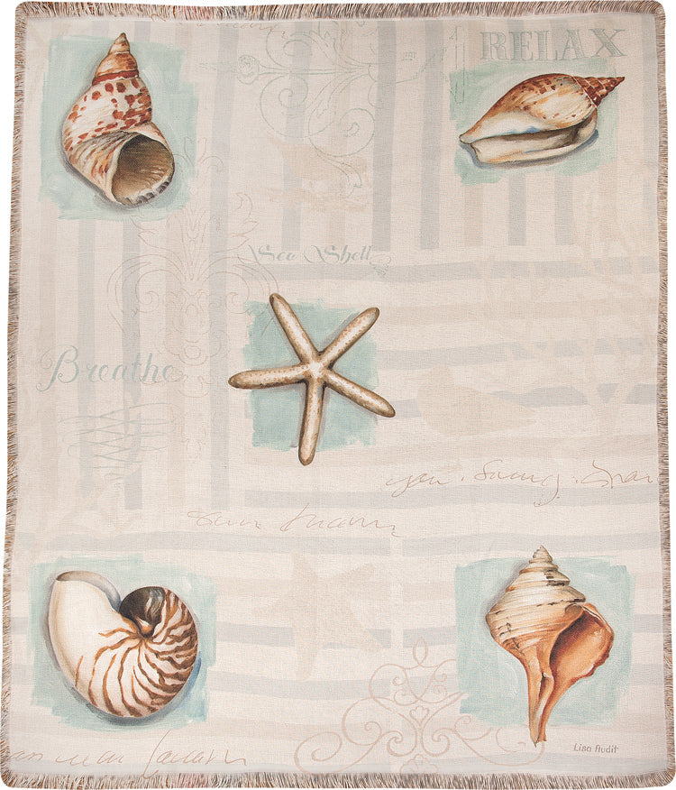 Coastal Jewels Tapestry Throw