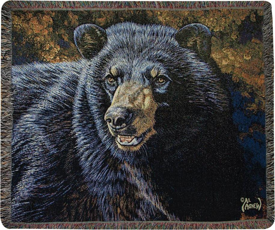 Black Bear II Tapestry Throw