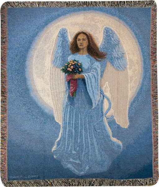 Moon Angel Tapestry Throw