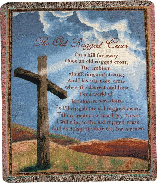 Old Rugged Cross I Tapestry Throw