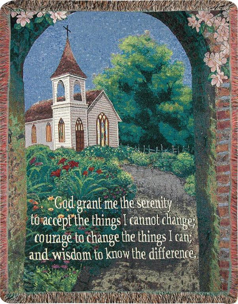 Serenity Prayer I Tapestry Throw