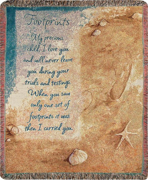 Footprints I Tapestry Throw