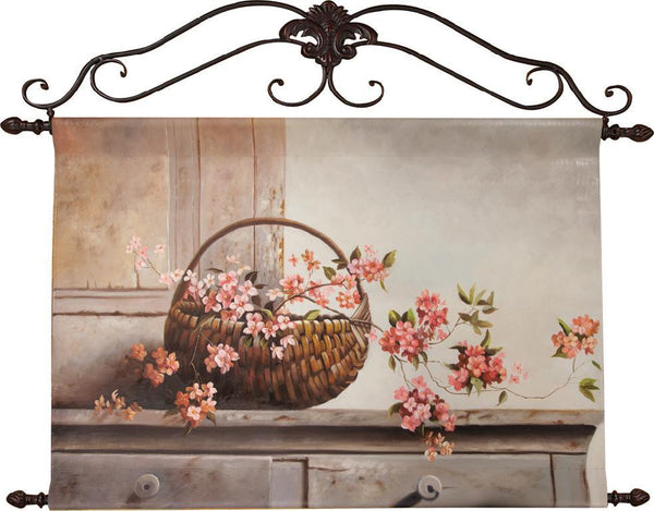 Cherry Blossoms in Pot Oil Painting