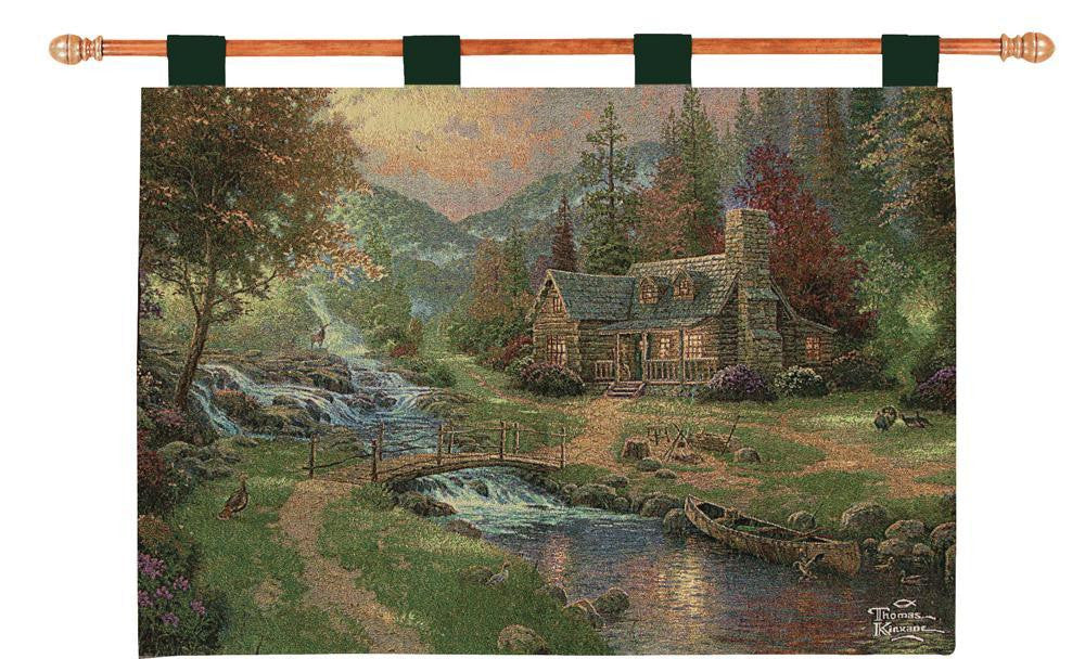 Mountain Paradise w/o Verse Fine Art Tapestry