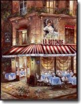 Evening at the Cafe I Fine Art Tapestry