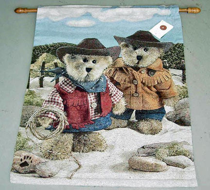 On the Range Boyd Bear Fine Art Tapestry