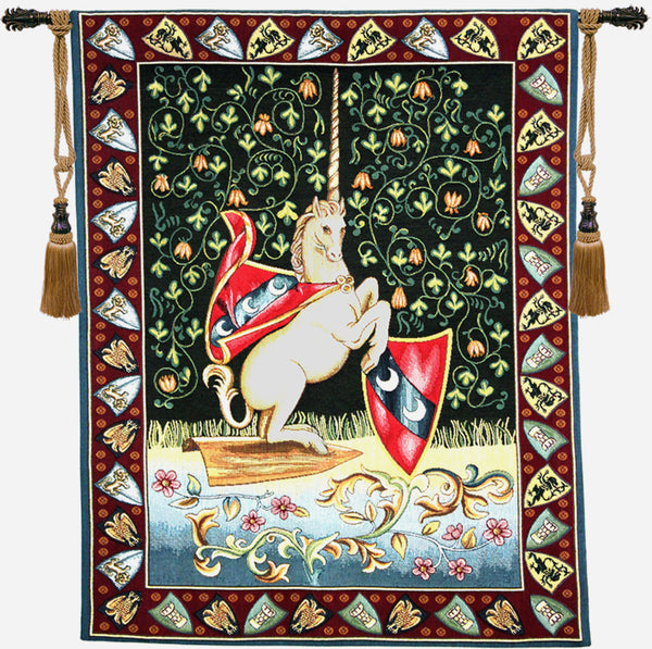 Unicorn Medieval Italian Tapestry Wallhanging
