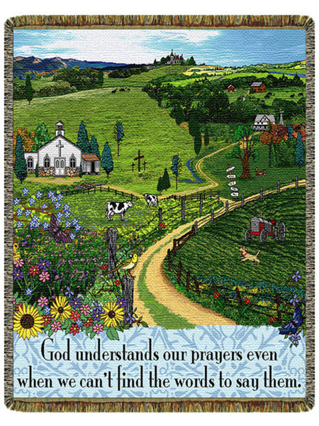 God Understands Tapestry Throw