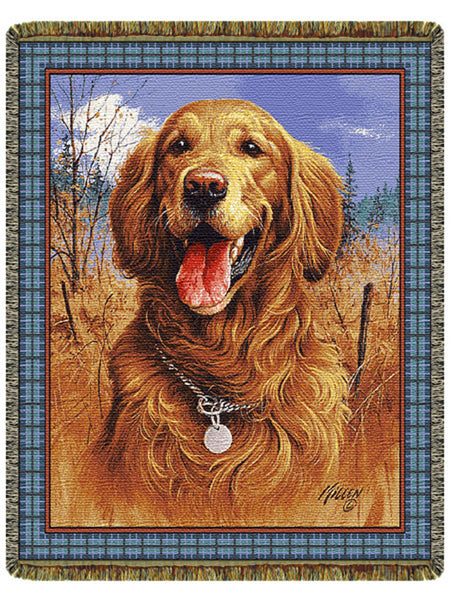Golden Retriever Tapestry Throw