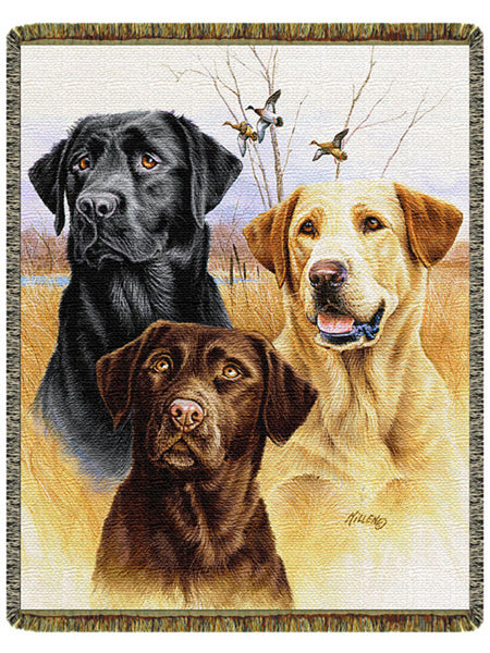 Great Hunting Dogs Tapestry Throw