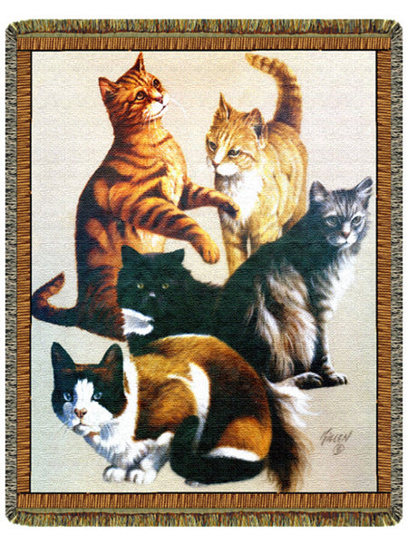 Cats Tapestry Throw