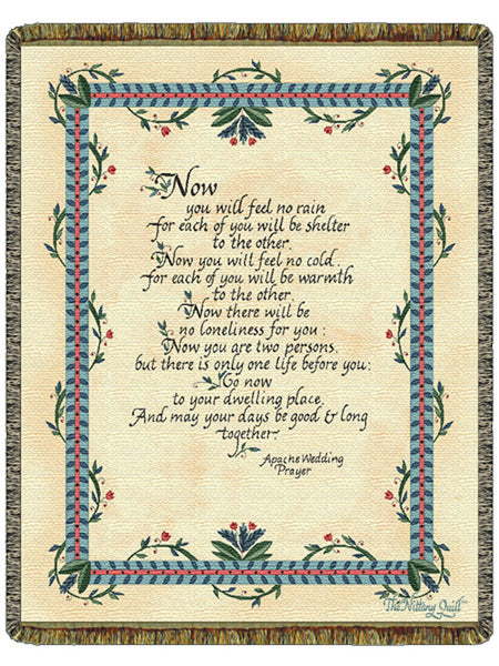 Apache Wedding Prayer Tapestry Throw