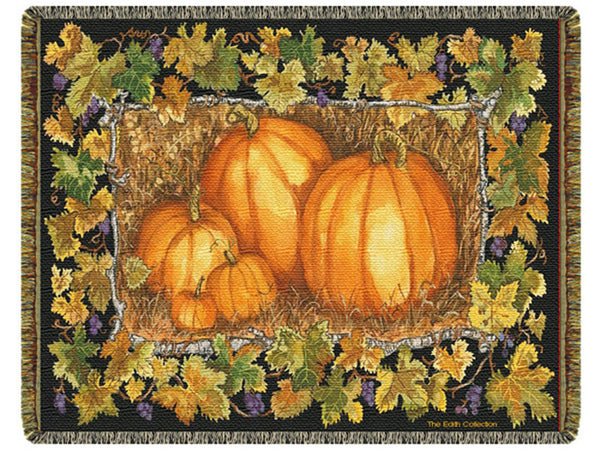 Pumpkin Patch Tapestry Throw
