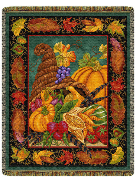Autumn Bounty Tapestry Throw