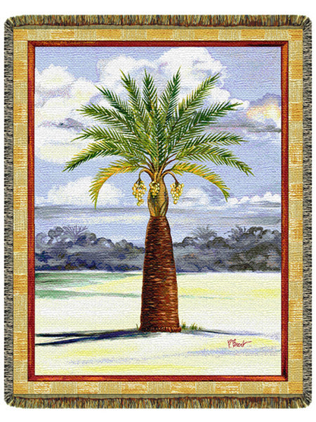 Palm Tree Tapestry Throw