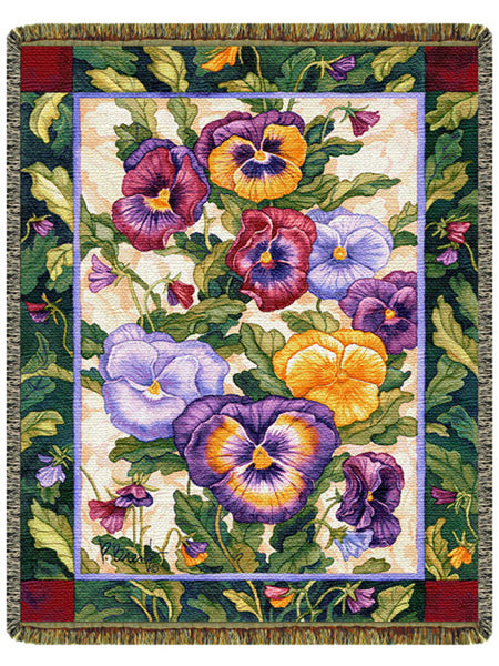 Pansy Family Tapestry Throw