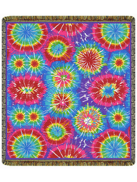Tie Dye Tapestry Throw
