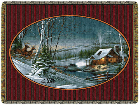 Evening with Friends Tapestry Throw