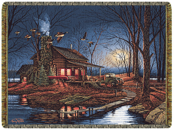 Moonlight Retreat Tapestry Throw