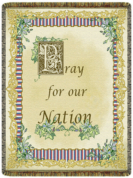 Pray for Our Nation Tapestry Throw