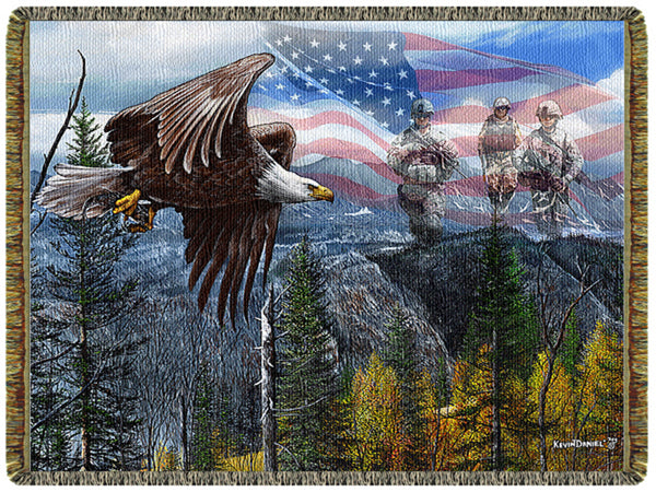 May Freedom Fly Forever II Tapestry Throw
