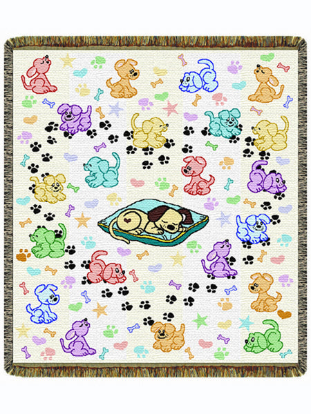 The Pick of the Litter Tapestry Throw