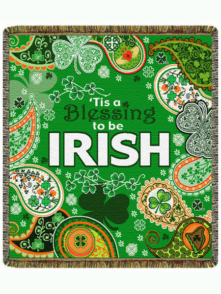 Tis a Blessing to be Irish Tapestry Throw