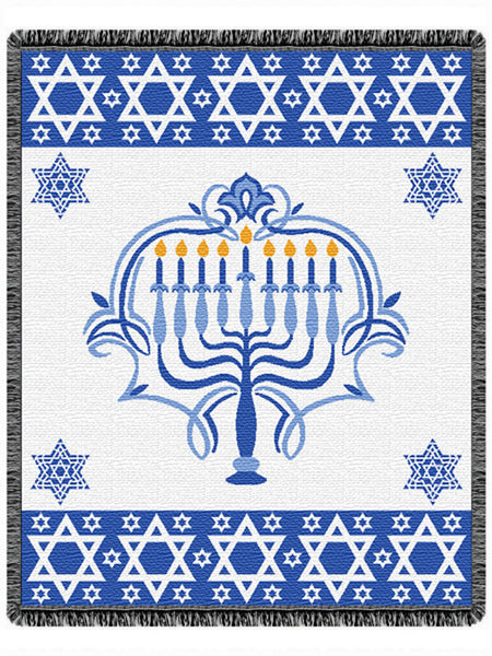 Menorah Tapestry Throw